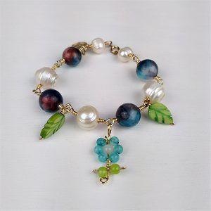 pulsera perlas y ágatas