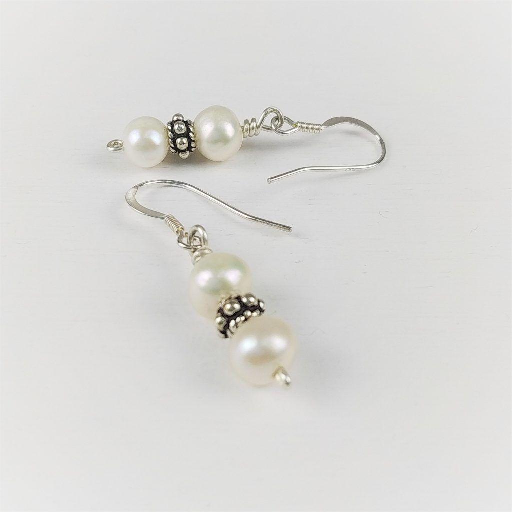 Pendientes de plata Perlas